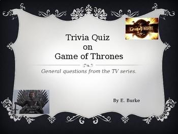 Trivia Quiz On Game Of Thrones