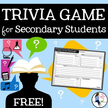 Trivia Review Game Template - A FREE Game for Secondary Students