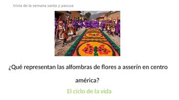 Trivia Semana Santa y Pasuca: Lectura y Juego  Spanish Class