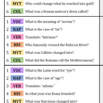 Trivial Persequor: Latin I