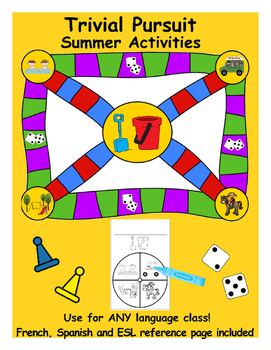 Trivial Pursuit Game – Summer Holiday Activities (**Stand Alone Game)