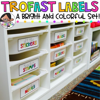 Trofast Labels | Bright and Colorful Ready to Print Labels