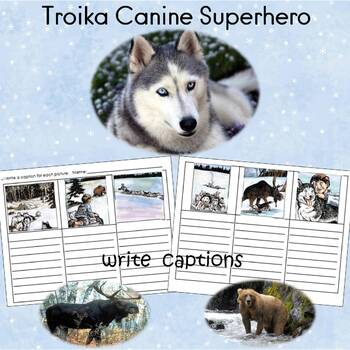 Troika Canine Superhero Reading Comprehension Sheets