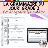 Troisième année: la grammaire du jour bundle (French writi