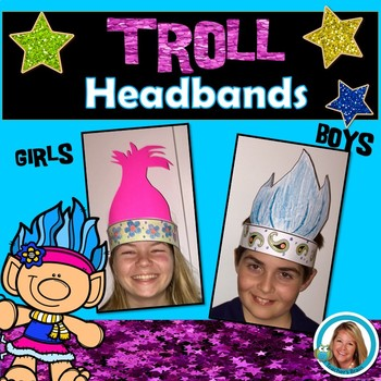 Trolls Hair Activities - Troll Hats for Boys and Girls
