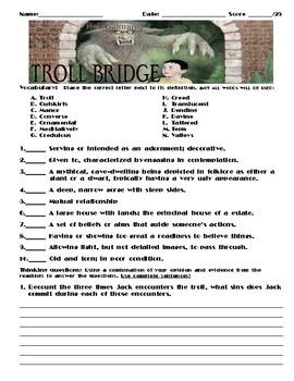 Troll Bridge by Neil Gaiman Assignment
