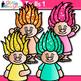 Rainbow Troll Clip Art 1 {Glitter Gnomes for Digital Resources & Scrapbooking}
