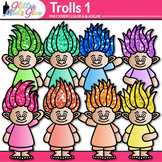 Rainbow Troll Clip Art 1 {Glitter Gnomes for Digital Resou