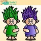 Rainbow Troll Clip Art 2 {Glitter Gnomes for Digital Resou