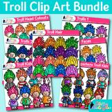 Troll Clip Art Bundle | Glitter Gnomes & Crime Fighters for Digital Resources
