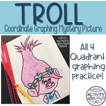 Troll (Girl) Coordinate Graphing Mystery Picture!