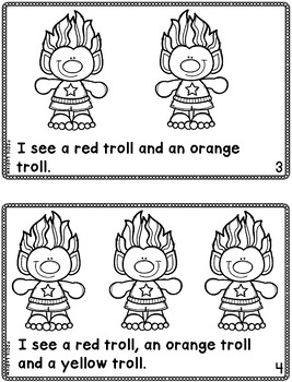 Troll Emergent Reader Troll Centers Free Literacy Book Colors