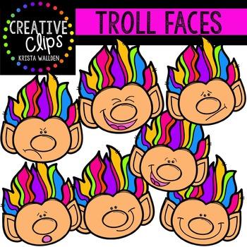 Troll Faces {Creative Clips Digital Clipart}