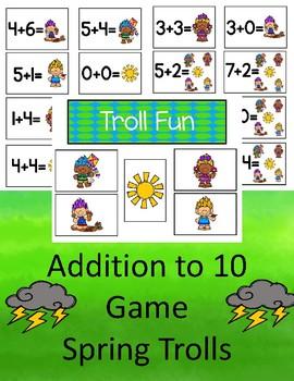 Troll Fun - Addition to 10 (Spring)