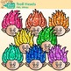 Rainbow Troll Clip Art | Glitter Gnome Heads for Digital Scrapbooking 3