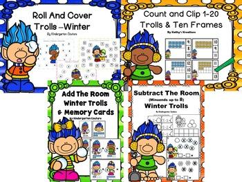 Troll Math Bundle -Winter