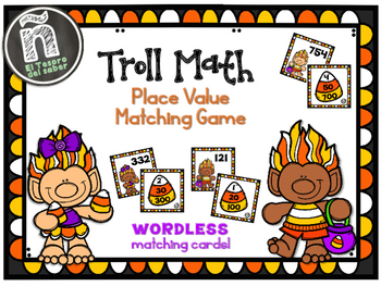 Troll Math - Place Value Mathing Game - Wordless