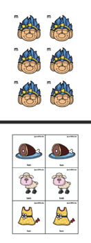Troll Memory Match for Early Sounds in Final Position of Words --  p, b, m, n