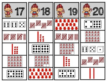 Troll Number Strips (1-20)