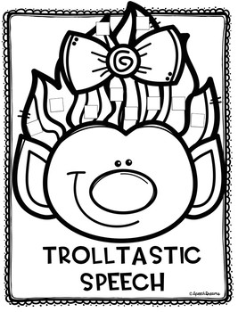 Silly Troll Hair Speech Craft: Speech Language Therapy Lesson
