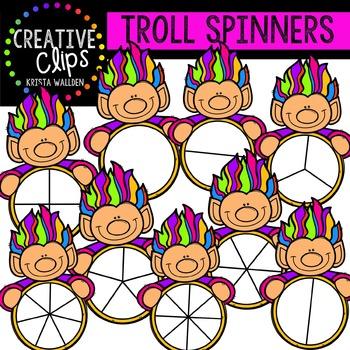 Troll Spinners {Creative Clips Digital Clipart}