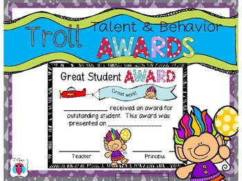 Troll Talent and Behavior Awards