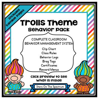 Trolls Theme Classroom Decor - Behavior Management