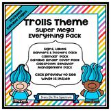 Troll Theme Classroom Decor EDITABLE (Trolls Classroom Theme Decor)
