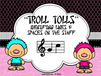 Troll Tolls Lines & Spaces (On the Staff) - Power-Point Edition