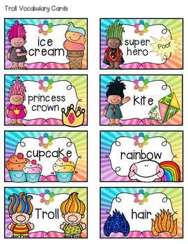 Troll Word Wall Alphabet Headings and Vocabulary Cards