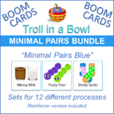 Troll in a Bowl Minimal Pairs Blue (Boom Cards)