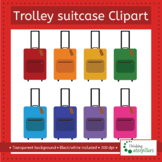 Trolley Suitcase clip art