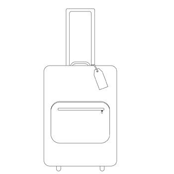 Trolley Suitcase clip art