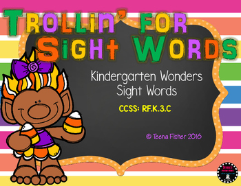 Trollin for Sight Words Fall Kindergarten Wonders Sight Words Center