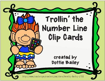 Trollin' the Number Line SubtractionClip Cards