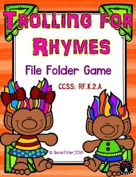 Trolling for Rhymes Rhyming Kindergarten Preschool  File F