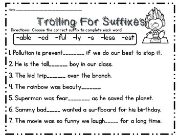 Trolling for Suffixes