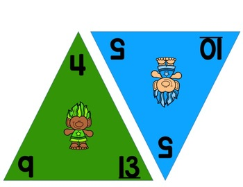 Trolls 0-12 Addition and Subtraction Flash Cards