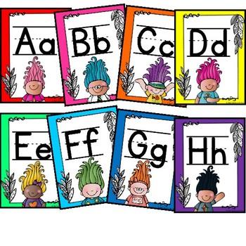 Trolls Alphabet Printable {Class Decor}