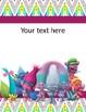 Trolls Binder Covers Complete Editable!!!