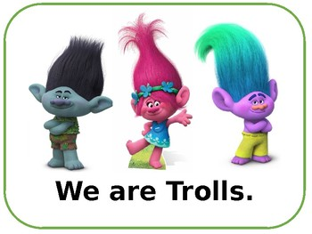 Trolls Book -- Sight Words: I am we are