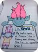 "Trolls Bulletin Board Set Craftivity & Writing Prompting ""OUT of con-TROLL"""