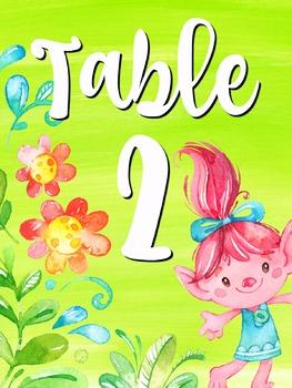 Trolls Classroom Decor Bundle 129 Pages (Watercolor, Pastel)