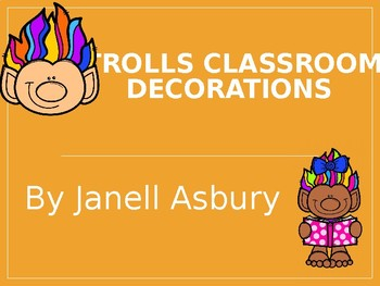 Trolls Classroom Decoration Pack