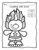 Trolls Color By Number Coloring Page