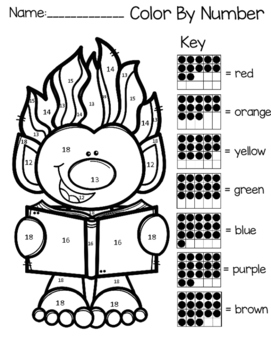 Trolls Color By Teen Number