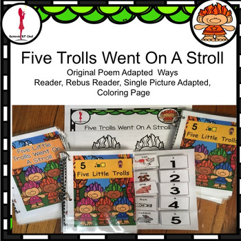 Trolls: Fun Rhyming Poem 3 Ways Adapted: Interactive, Rebus, Reader