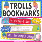 Trolls Growth Mindset Bookmarks, Shelf Markers or Desk Name Plates - EDITABLE