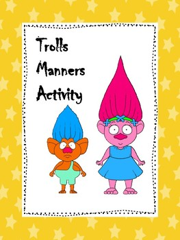 Trolls Manners Activity