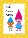 Trolls Manners Activity